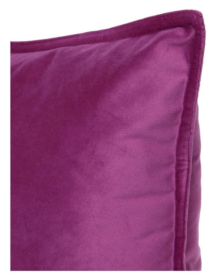 Vivienne Velvet Cushion in Violet image 2