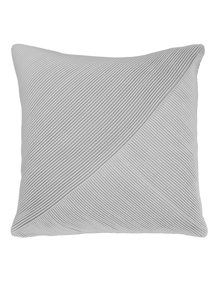 Waverly Tucked Panel Cushion in Silver 45x45cm image 1