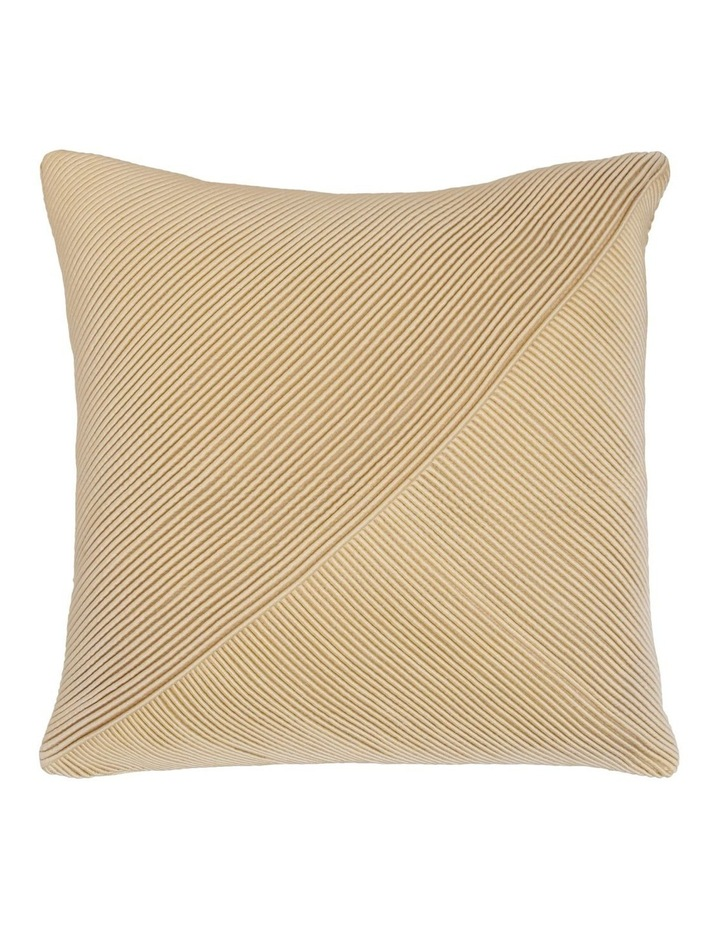 Waverly Tucked Panel Cushion in Gold 45x45cm image 1