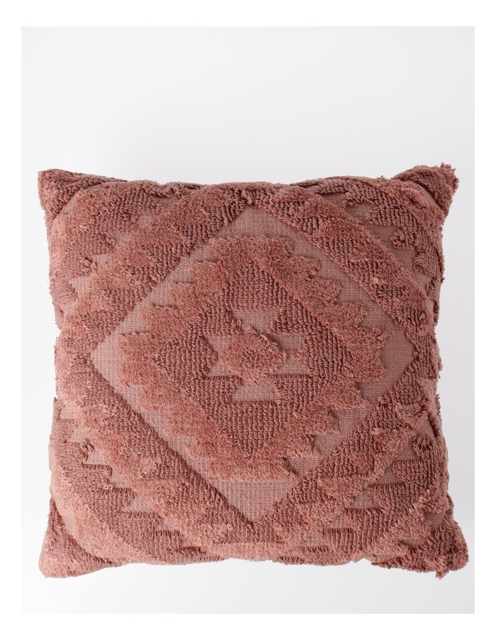 Amera Tufted Cushion in Coral image 1