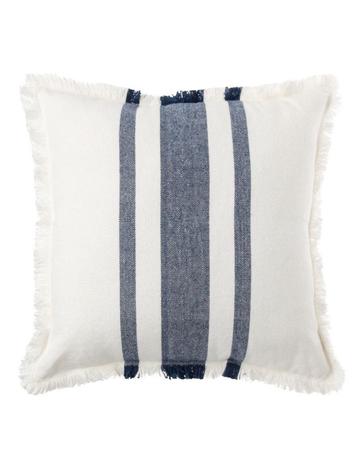 Woolamai Stripe Cushion in Denim image 1
