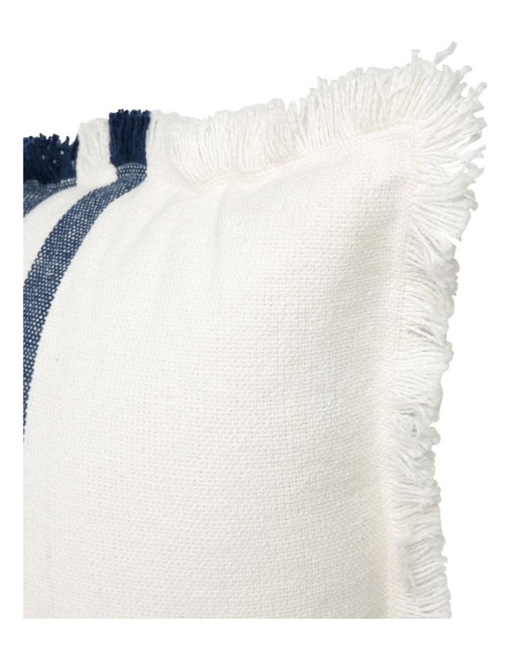 Woolamai Stripe Cushion in Denim image 2