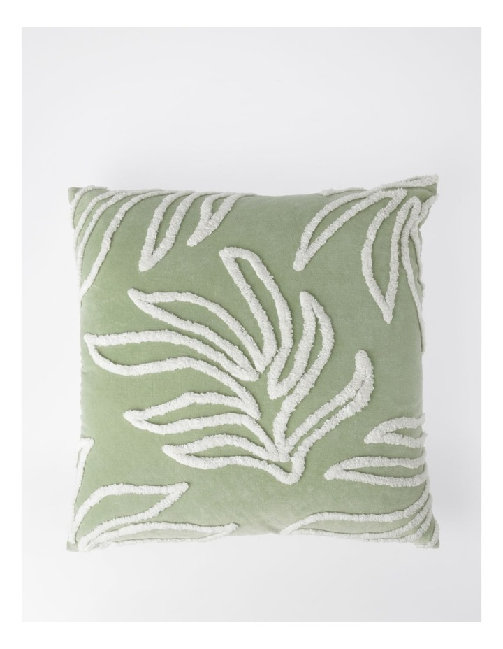 Decan Velvet with Tufting Cushion in Sage image 1