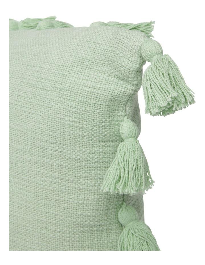 Gibraltar Cotton Cushion with Tassle Trim in Sage image 2