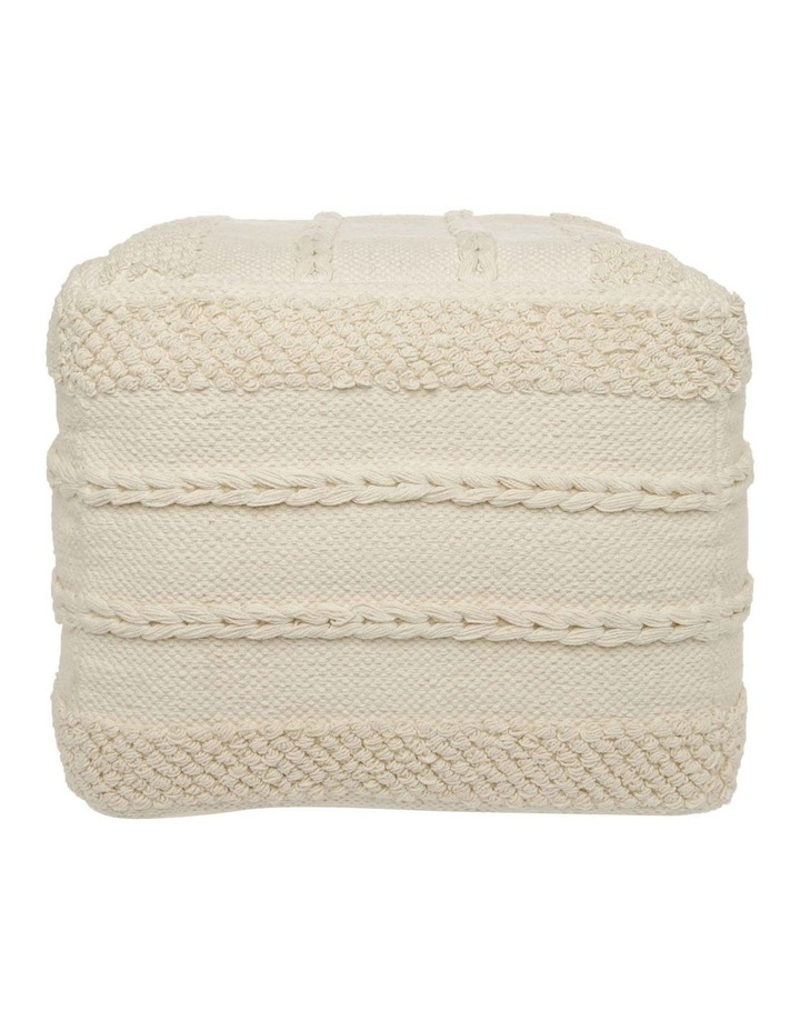 Sentinel Tufted Pouf in Off White 40x40x35cm image 1