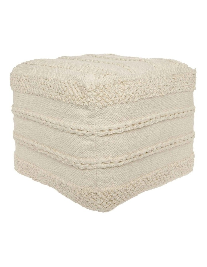 Sentinel Tufted Pouf in Off White 40x40x35cm image 2