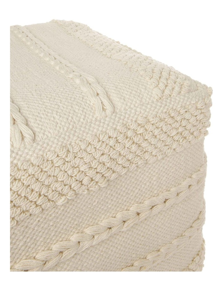 Sentinel Tufted Pouf in Off White 40x40x35cm image 3