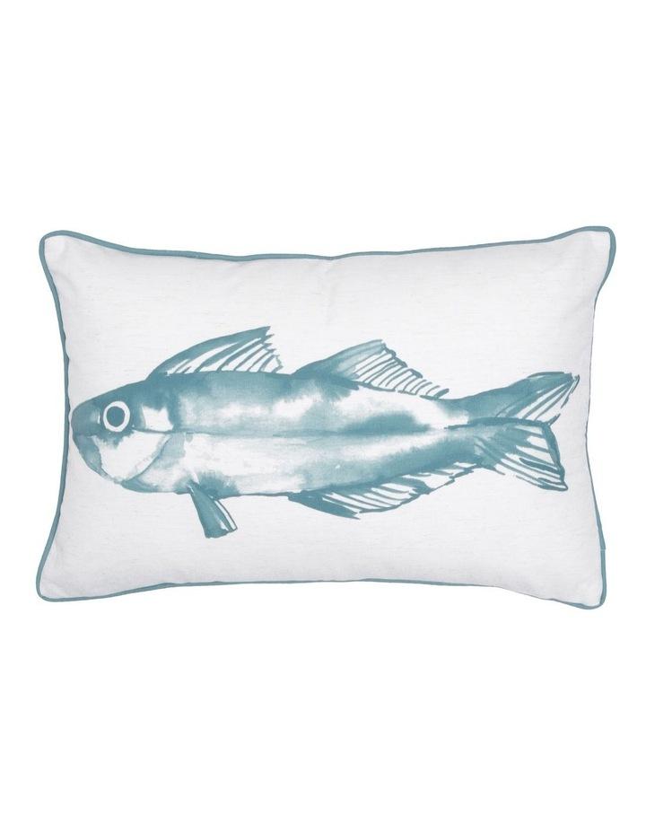Hayman Hand-drawn Print Breakfast Cushion in Blue 40x60cm image 1