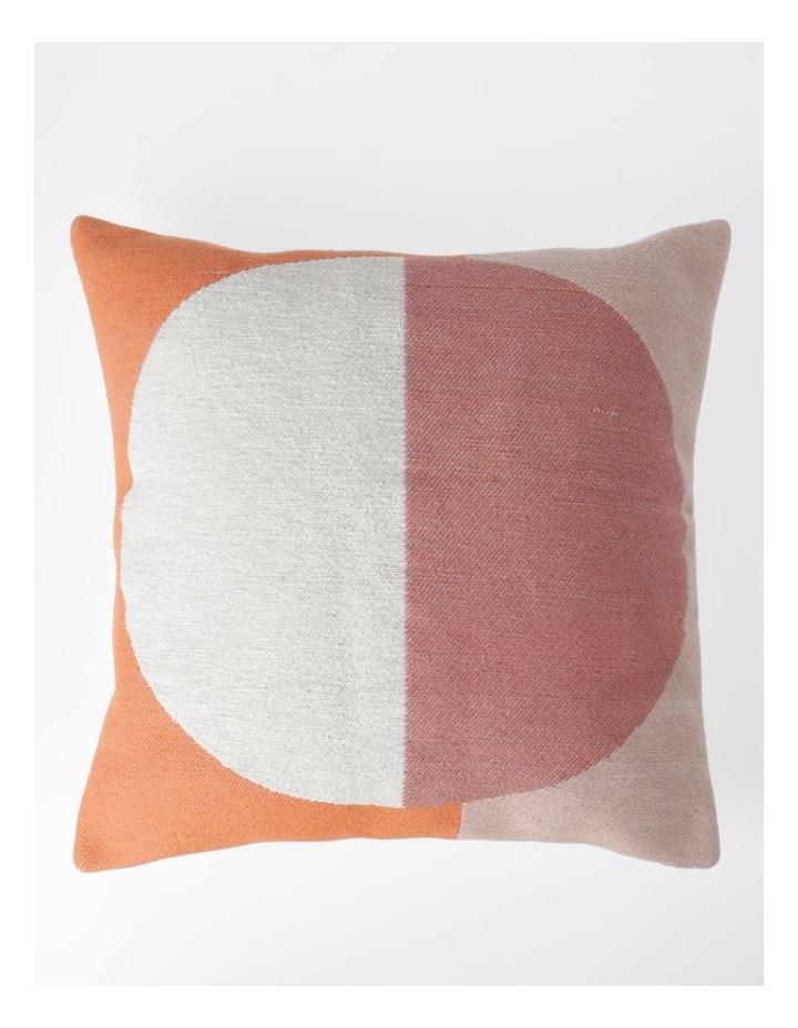 Ontario Geometric Print Cushion in Coral: 50x50cm image 1