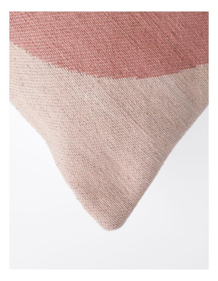 Ontario Geometric Print Cushion in Coral: 50x50cm image 2