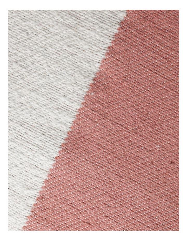 Ontario Geometric Print Cushion in Coral: 50x50cm image 3