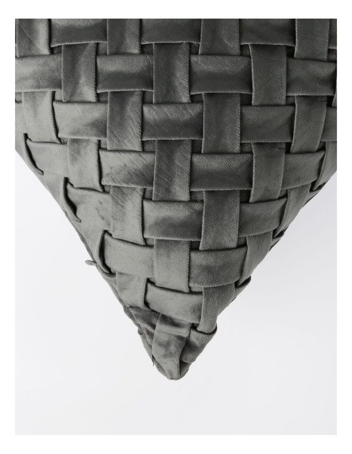 Rowland Quilted Velvet Cushion in Grey image 2