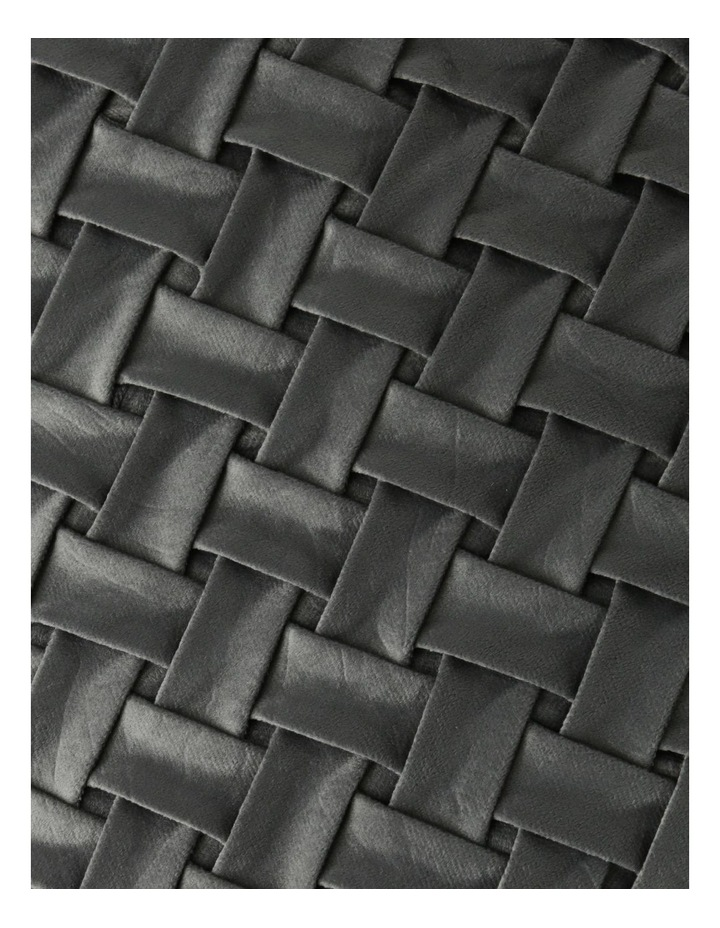 Rowland Quilted Velvet Cushion in Grey image 3