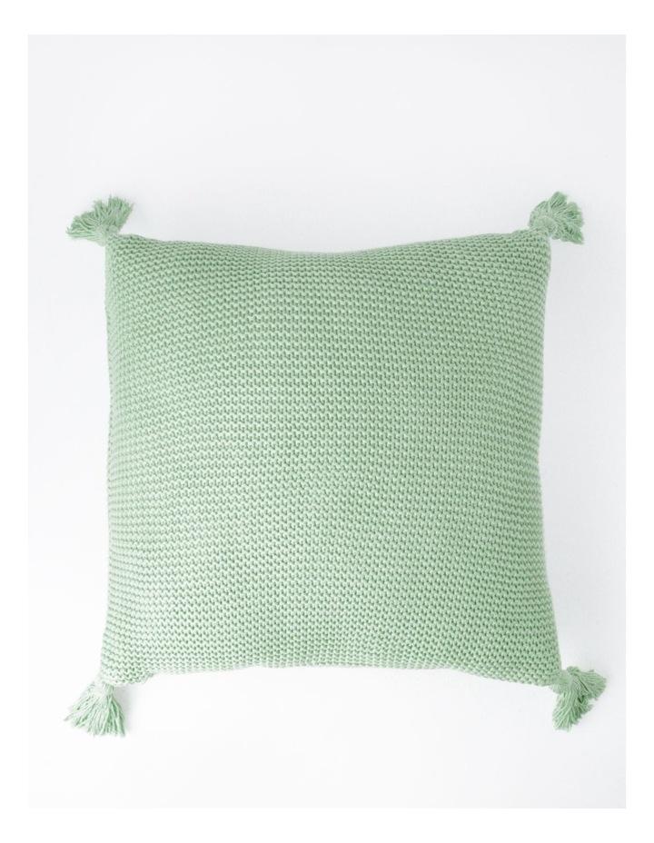 Melaky Tassel Cushion in Sage: 50 x 50cm image 1