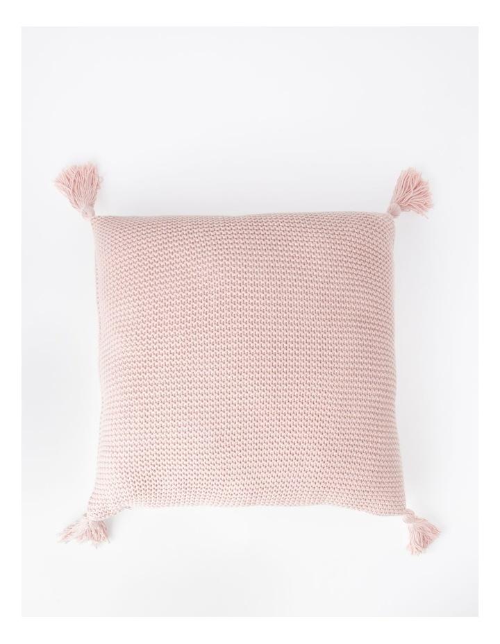 Melaky Tassel Cushion in Pink Sand: 50 x 50cm image 1