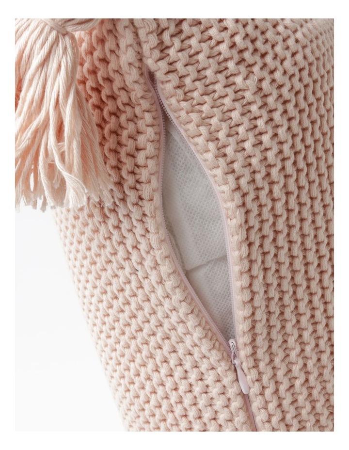 Melaky Tassel Cushion in Pink Sand: 50 x 50cm image 4