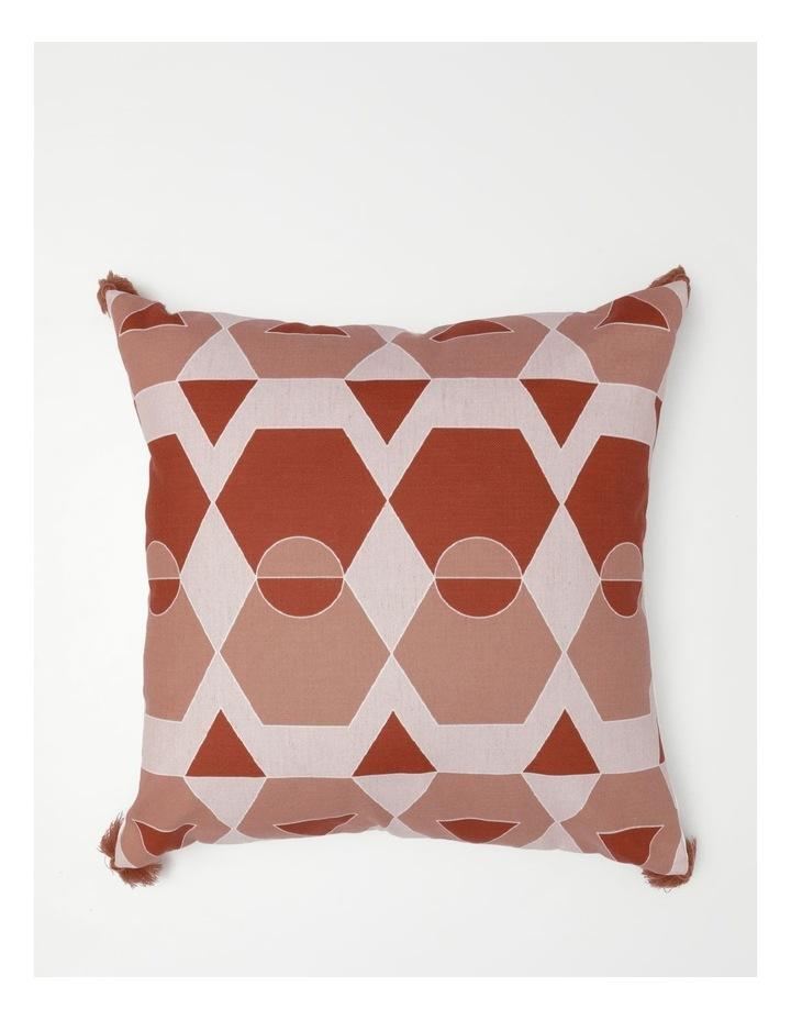 Fatima Chenille Cushion in Terracotta image 1