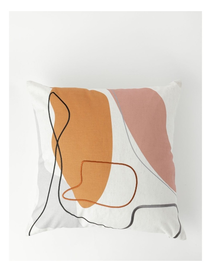 Carello Print and Embroidery Cushion in White image 1