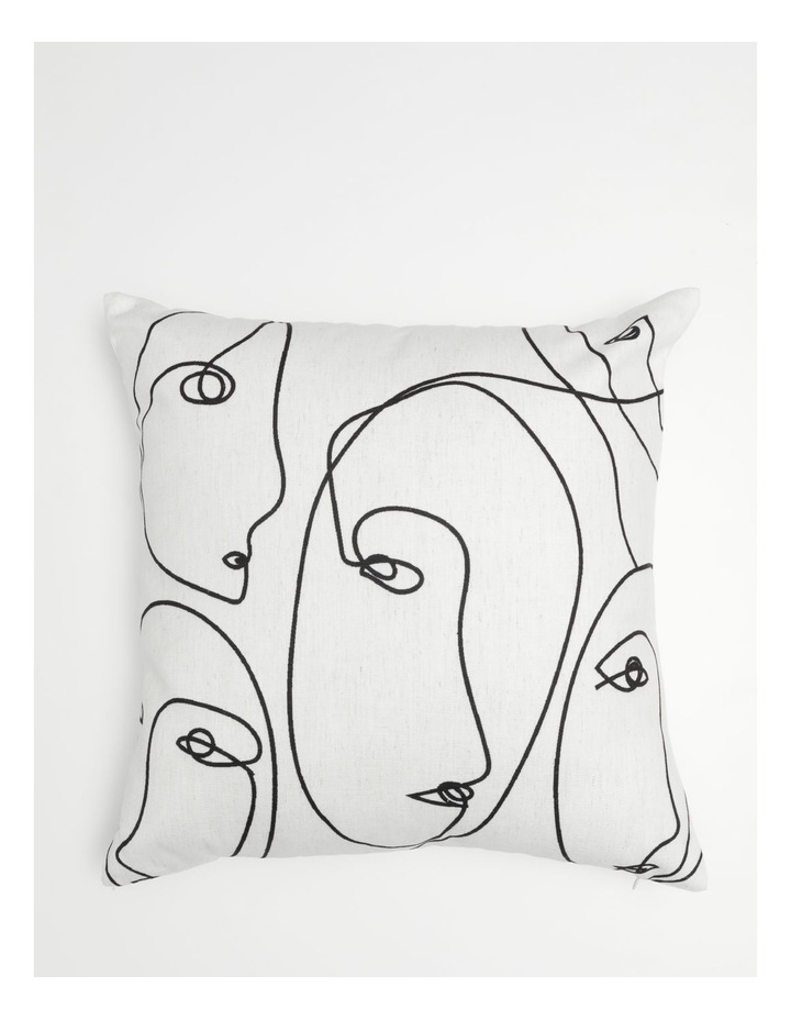 Vue Kering Print Chenille Cushion in White image 1