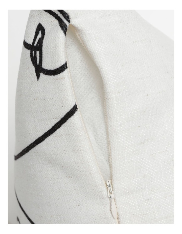 Vue Kering Print Chenille Cushion in White image 4