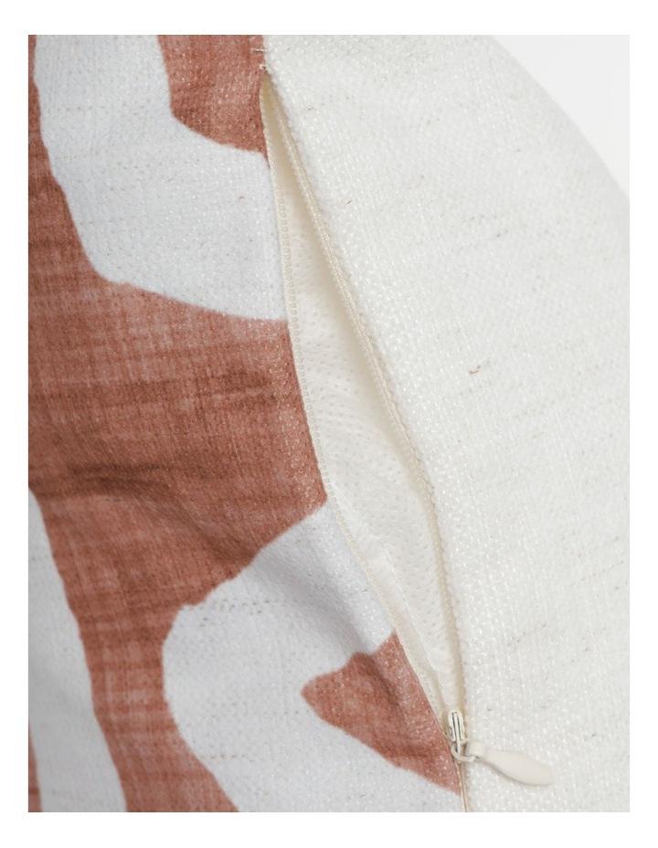 Adala Chenille Breakfast Cushion with Tassles in Terrcotta image 4