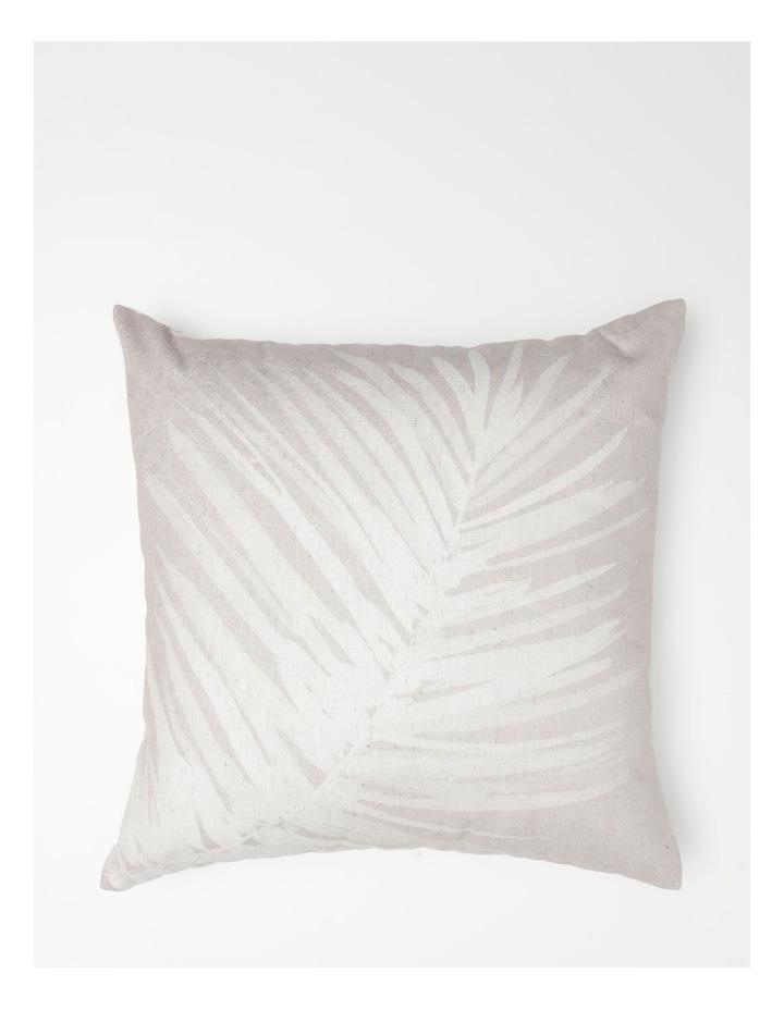 AHG Malolo Palm Print Cushion in Natural image 1