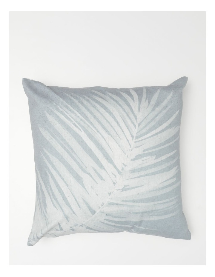 Malolo Palm Print Cushion in Sea Mist image 1