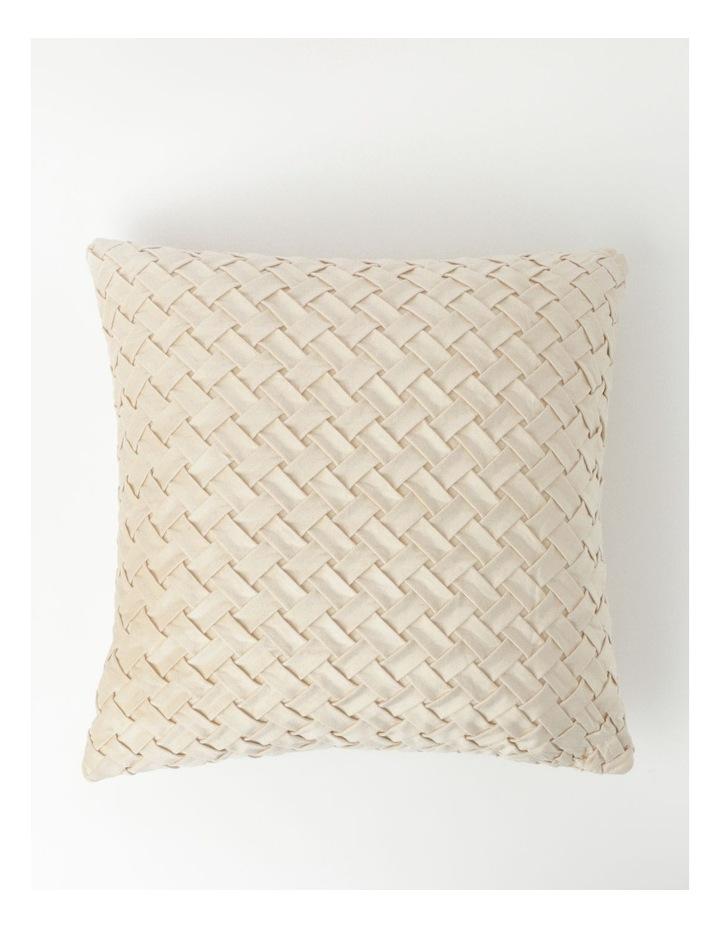Rowland Velvet Cushion in Champagne image 1