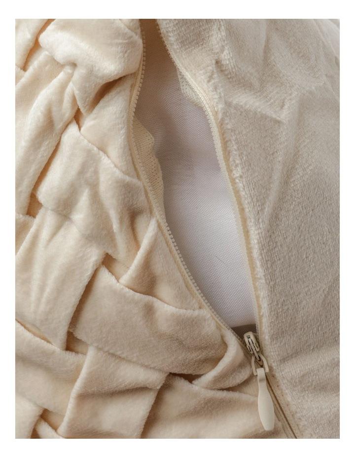 Rowland Velvet Cushion in Champagne image 4