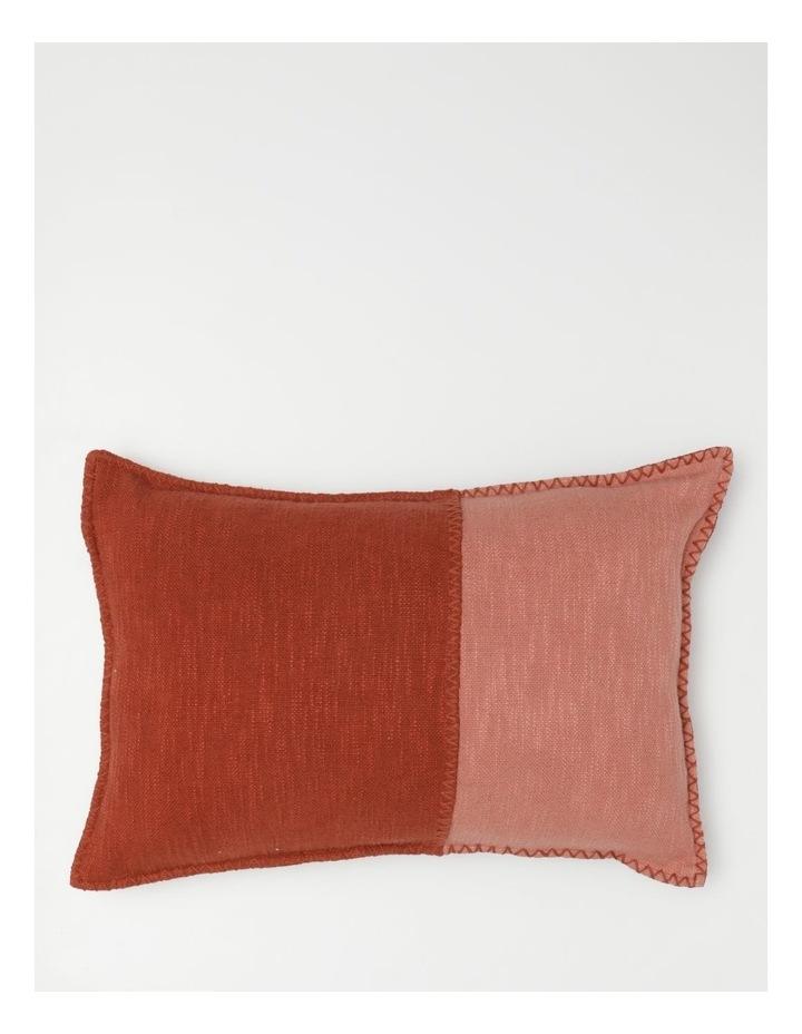 Lalla Cotton Cushion in Terracotta image 1
