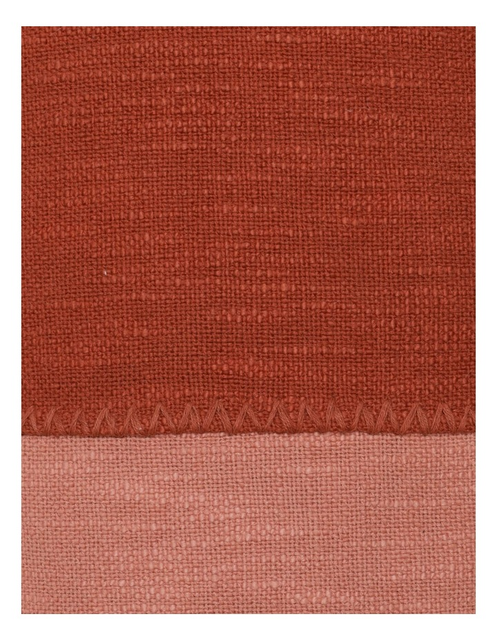 Lalla Cotton Cushion in Terracotta image 3