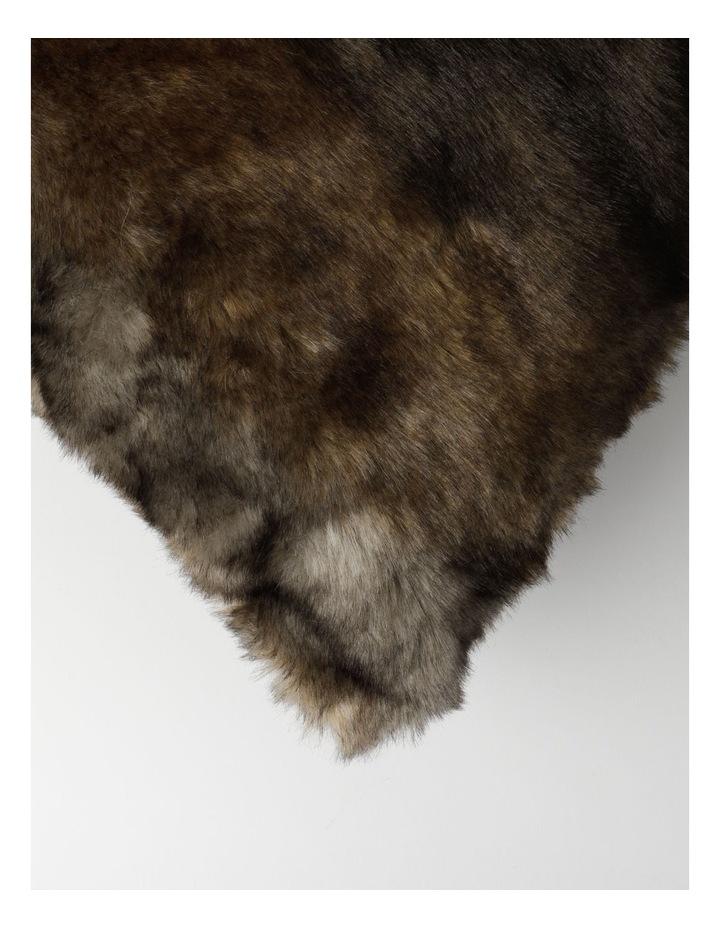 Saxon Faux Fur Cushion in Brown image 2