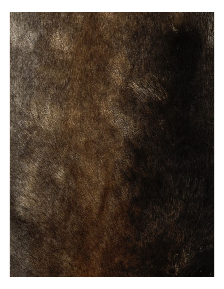 Saxon Faux Fur Cushion in Brown image 3