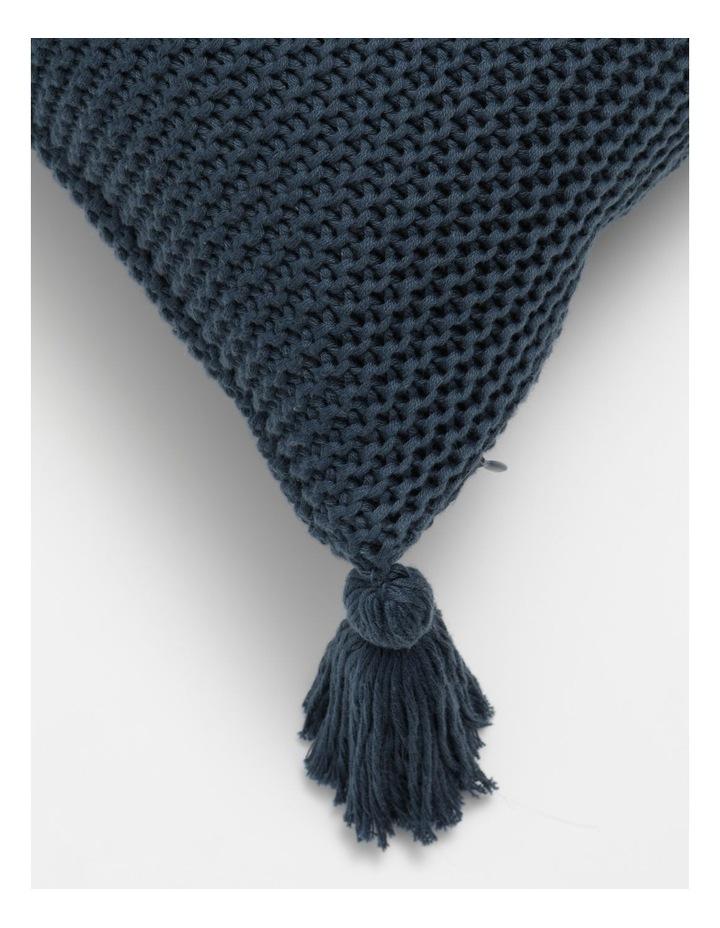 Melaky Knitted Cushion w/ Tassles in Midnight image 2