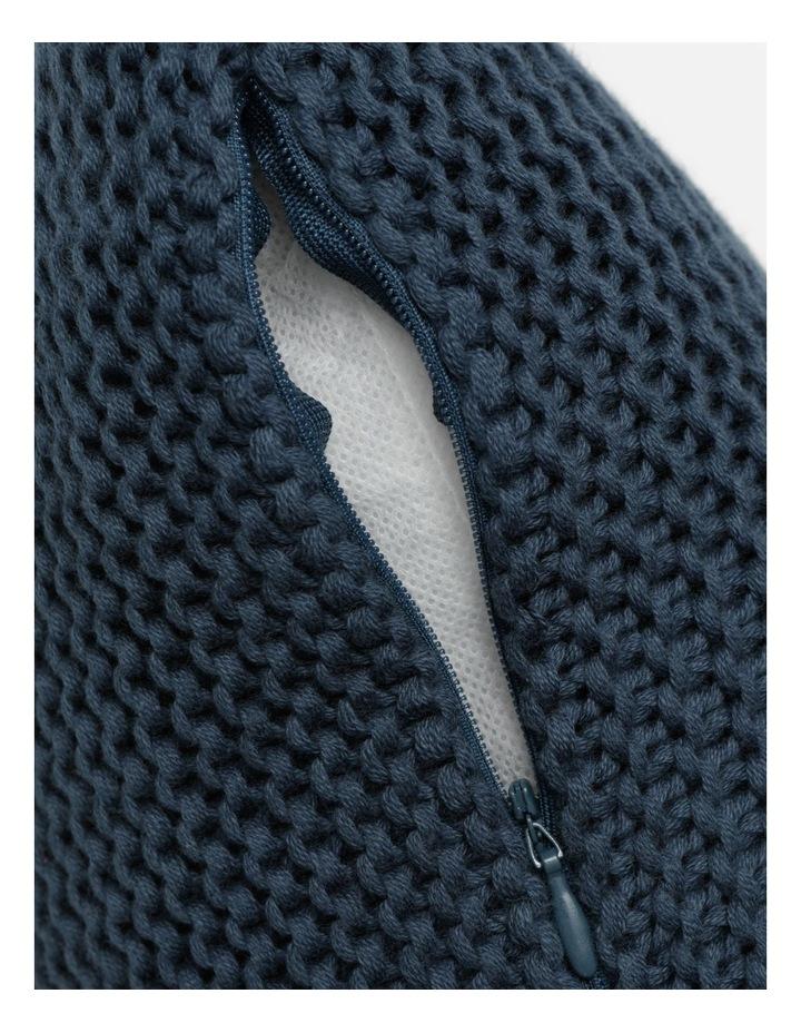 Melaky Knitted Cushion w/ Tassles in Midnight image 4
