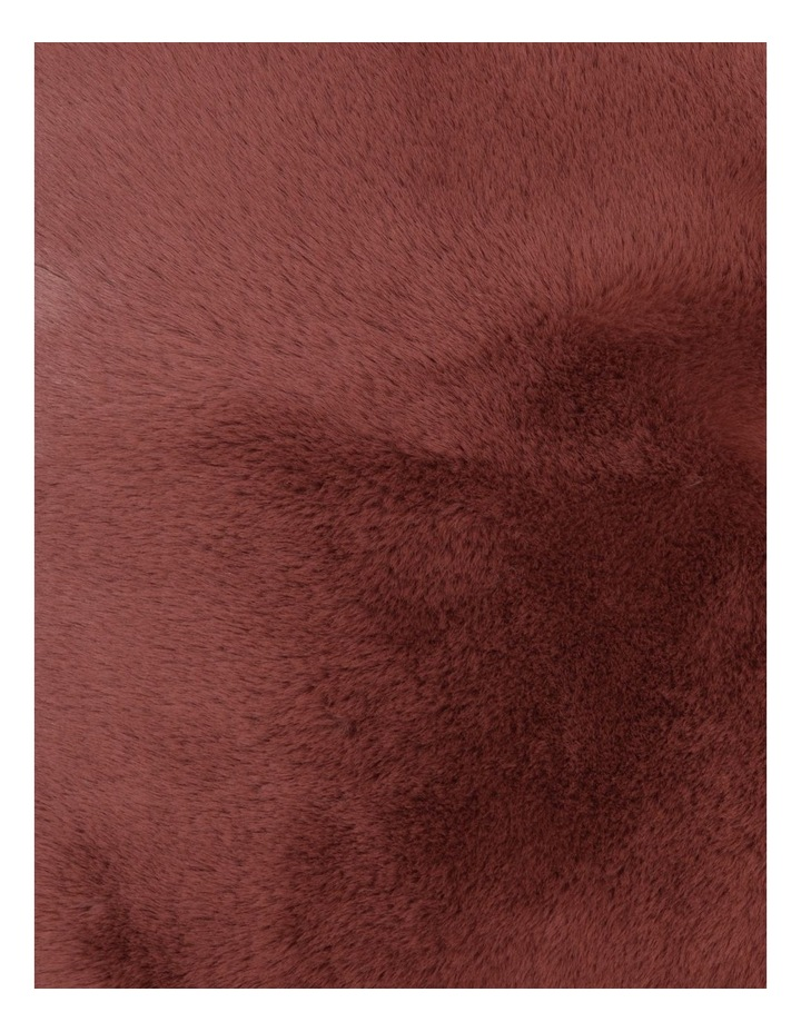 Amelie Faux Fur Cushion in Withered Rose image 3