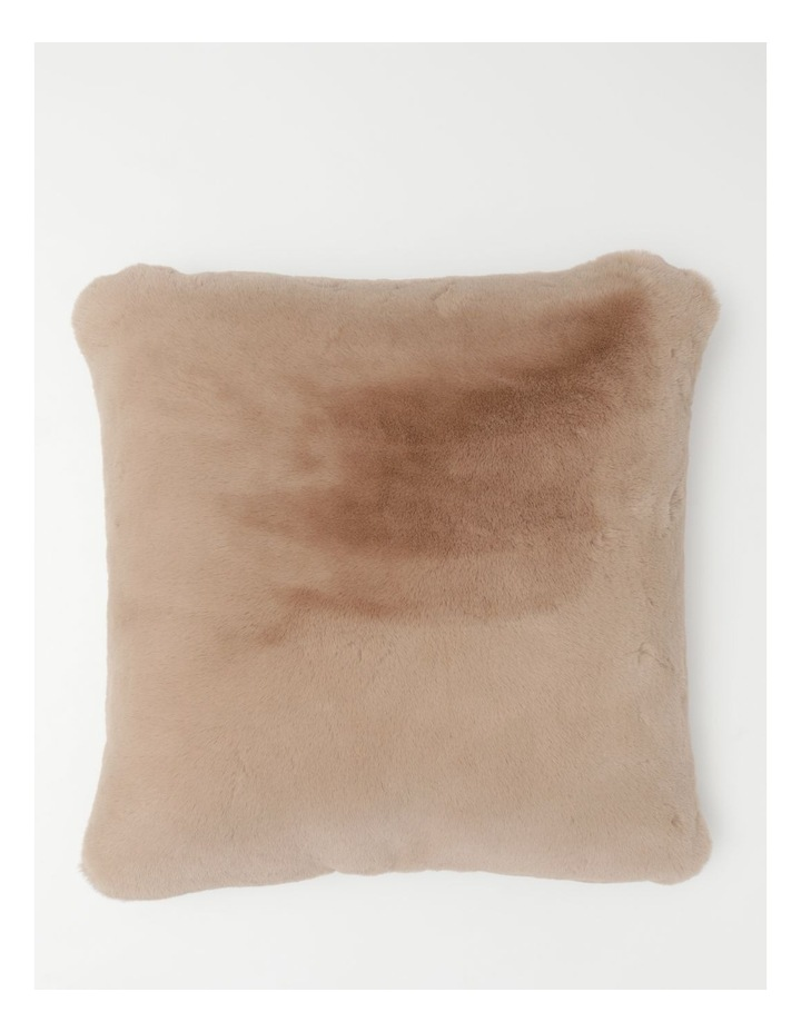 Heritage Amelie Faux Fur Cushion in Taupe image 1