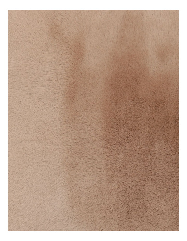 Heritage Amelie Faux Fur Cushion in Taupe image 4