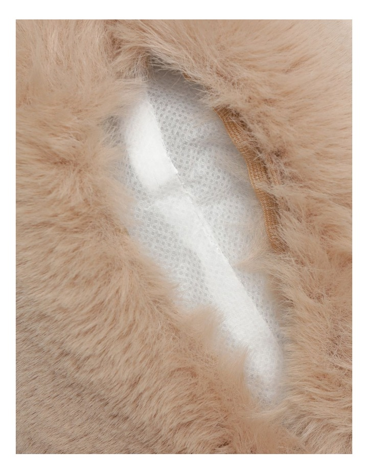 Heritage Amelie Faux Fur Cushion in Taupe image 5