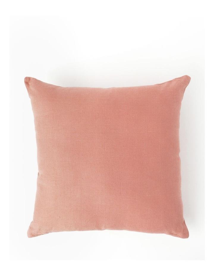 El Blanca Linen Cushion in Pink Clay image 1