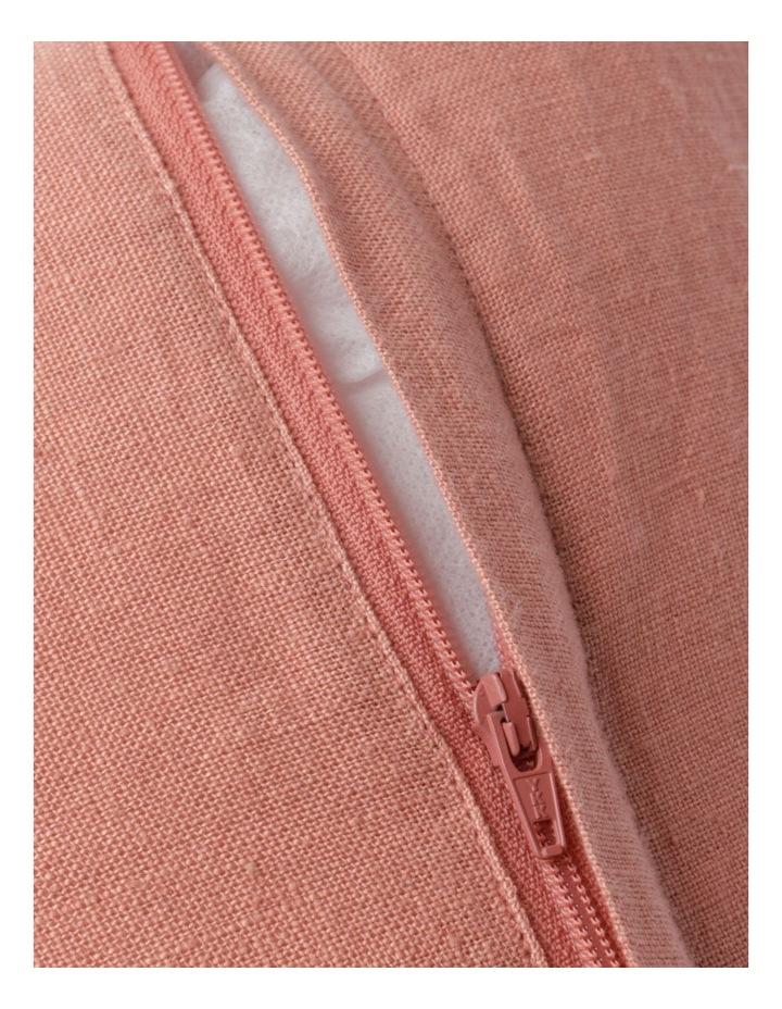 El Blanca Linen Cushion in Pink Clay image 4