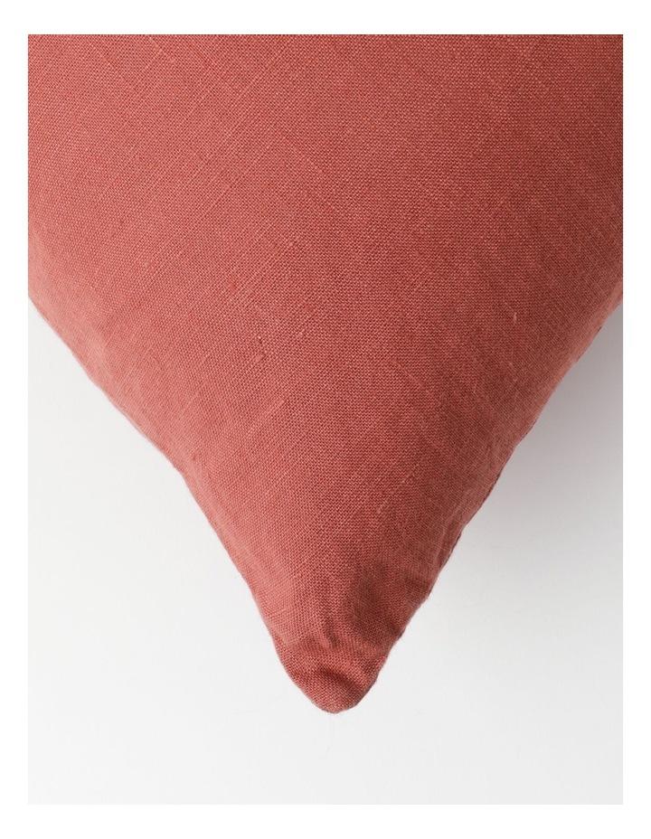 El Blanca Linen Cushion in Terracotta image 2