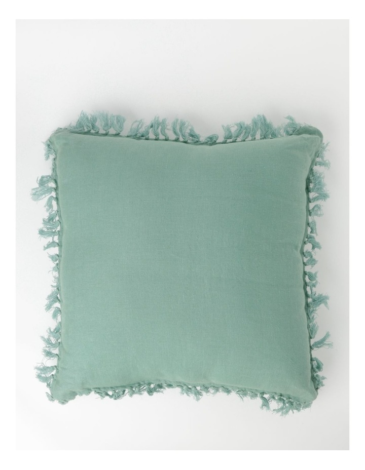 Moreton Tassle Linen Cushion in Sea Mist image 1