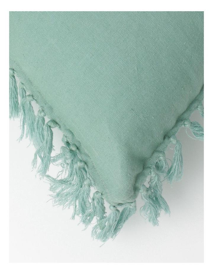 Moreton Tassle Linen Cushion in Sea Mist image 2
