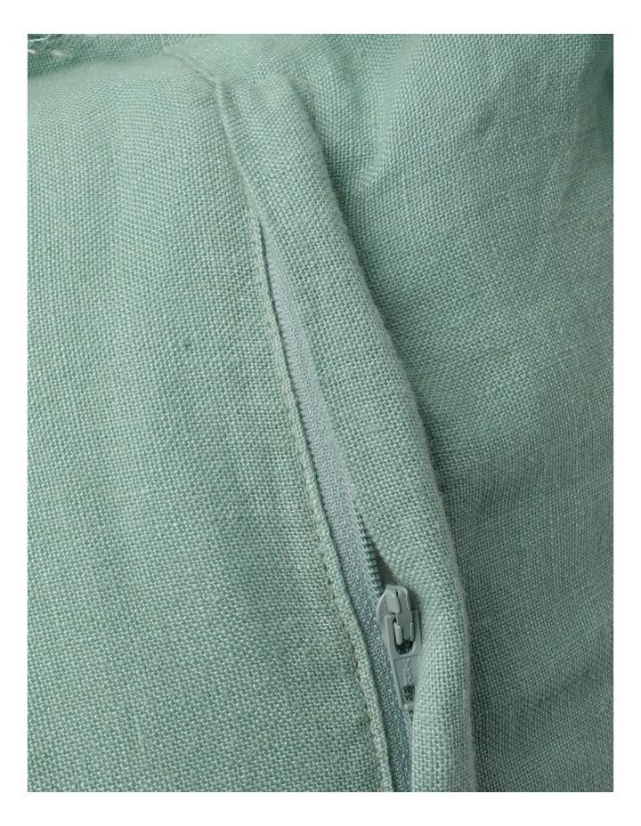 Moreton Tassle Linen Cushion in Sea Mist image 4