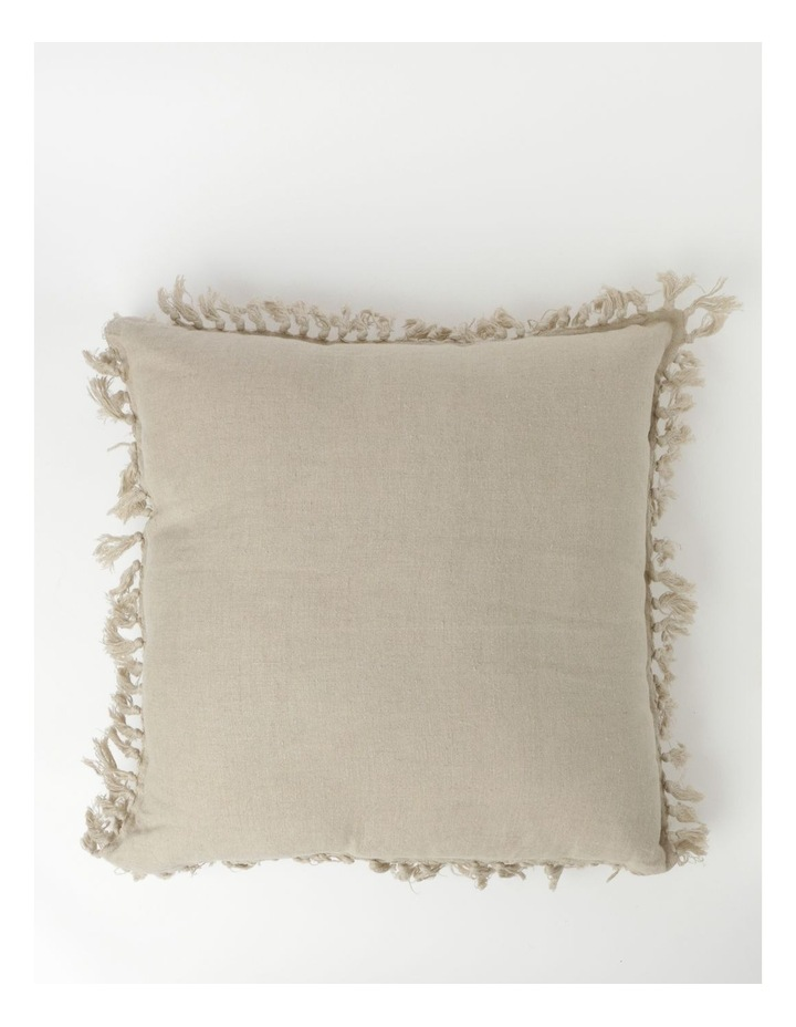 Moreton Tassle Linen Cushion in Natural image 1