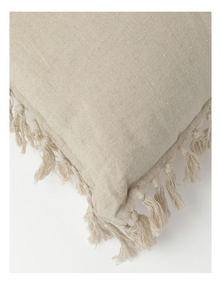 Moreton Tassle Linen Cushion in Natural image 2