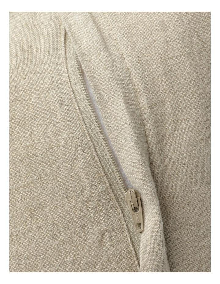 Moreton Tassle Linen Cushion in Natural image 4