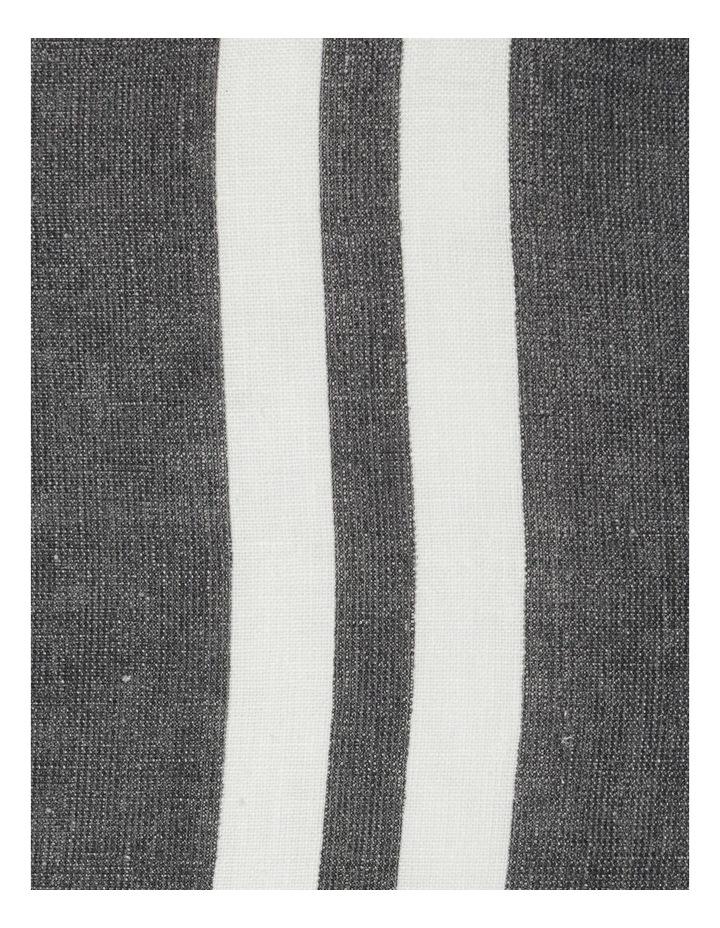 AHG Douglas Frayed Linen Cushion in Dark Stone image 4