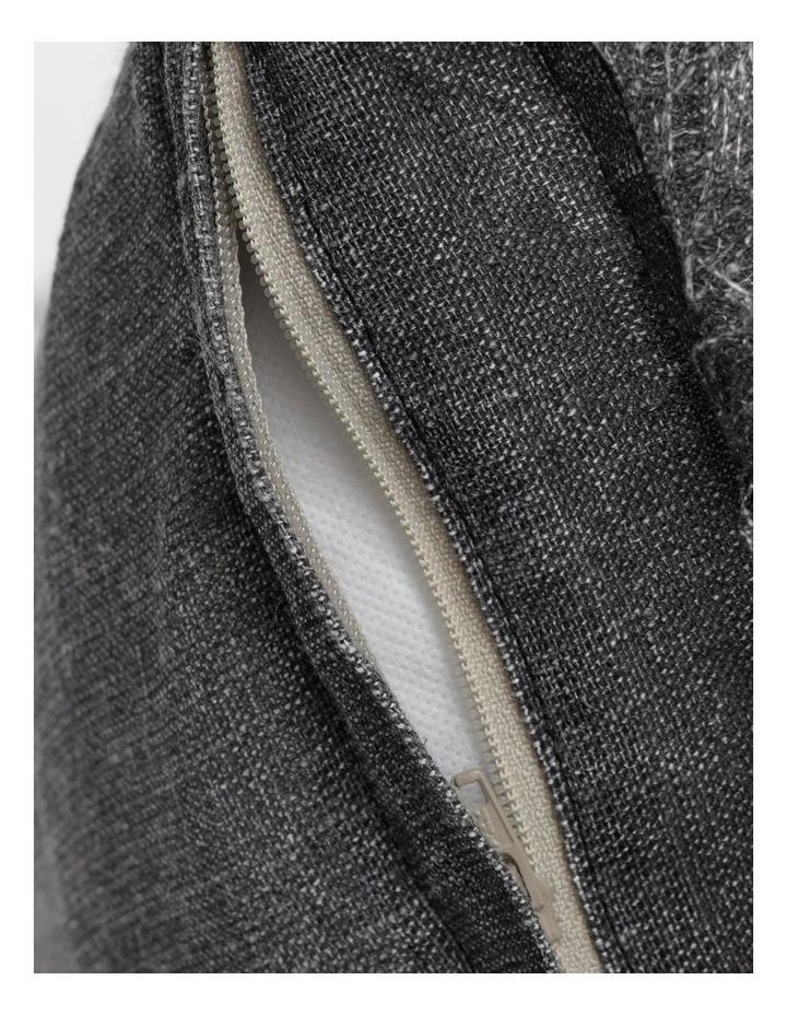 AHG Douglas Frayed Linen Cushion in Dark Stone image 5